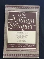 THE ARKHAM SAMPLER. SUMMER 1949 - SIGNED BY CONTRIBUTOR RAY BRADBURY
