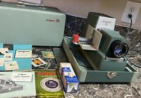 Argus 300 Projector Vintage With Case Manuals Extra Bulb Parts Repair Only