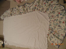 Laura Ashley Chinese Silk queen bed skirt material Vintage Rare & Hard-To-Find