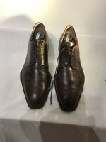 Romano Martegani Mens Brown Leather Formal Lace Up Shoes Uk 9.5 Ref Ba17