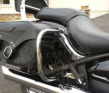 KAWASAKI VN900 CLASSIC CUSTOM CHROME REAR SADDLEBAG GUARD CRASH BARS PROTECTORS