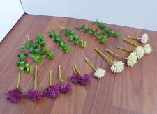Set of 19 Mini Artificial Succulents Plants And Grass