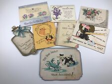 LOT OF 8 VINTAGE GET WELL GREETING CARDS FOR CRAFTING OR REPURPOSING