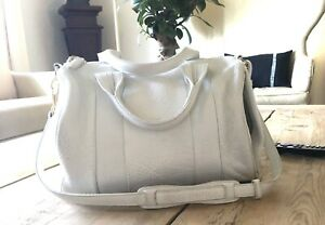 Alexander Wang Rocco White Leather Duffle Bag $950
