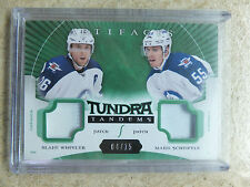 15-16 UD Artifacts Green Tundra Tandems Patch MARK SCHEIFELE / BLAKE WHEELER /15