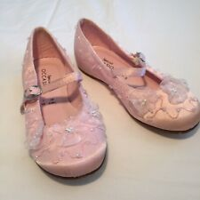 bf8e8431d9a Debenhams Girl s Party   Bridesmaid Shoes Pink + Beads   Lace - UK Infant  Size 7