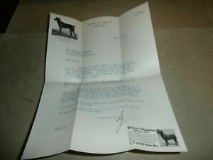1915  Letter George Angier Belgian Schipperkes Dog Waban Boston MA Harrisburg PA