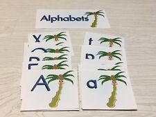 Chicka Chicka Boom - Coconut  Tree Themed Alphabet Cards - 53 Laminated Cards