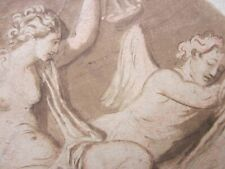 ANGELICA KAUFFMAN - Neoclassical - OLD MASTER Painting c.1780 - NUDE & ANGEL