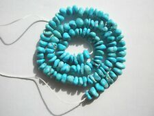 Natural Sleeping Beauty Turquoise UNSTABILIZED Nugget  Beads - 6-8x3-4.5mm - str