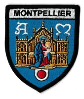 Patche Montpellier écusson brodé blason patch thermocollant ville France
