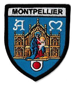 Patche Montpellier écusson brodé blason patch thermocollant ville France