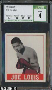 1948 Leaf Boxing #48 Joe Louis CSG 4 VG-EX w/ 8.5