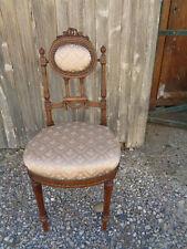 époque XIXème , petit chaise enfant Louis XVI , chaise médaillon caqueteuse
