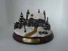 Thomas Kinkade Lighted Cottage Stonehearth Hutch Winter Village on Base