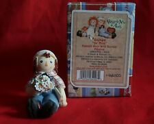 Raggedy Ann/Andy Figurine Be Mine Andy With Bouquet Flowers New In B0X