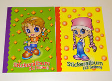 2 x A5 Stickeralbum Stickerheft Sticker Sammel Album NEU Aufkleber Leer Bunt