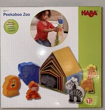HABA PEEKABOO ZOO Baby Stackable Matching Game With Animals-Pristine Condition!