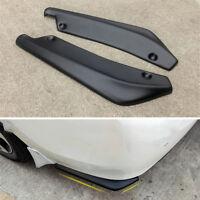 1 Pair Car Auto Bumper Spoiler Rear Lip Anti-crash Angle Splitter Diffuser Black