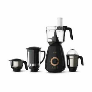 New Philips HL7707/00 750W Heavy Duty Mixer Grinder with 4 Jars, 220V (Black)