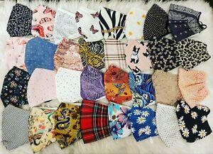 Face Masks Virus Washable Reusable Comfortable (Fashion Patterns) New Stock! UK