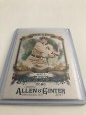 2017 Topps Allen & Ginter Baseball Ty Cobb Detroit Tigers What a Day! insert #60
