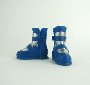 1/6 Scale Mattel Max Steel Blue Winter Arctic Boots For 12 Inch Action Figures