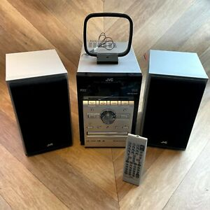 JVC UX-G60 Hifi Shelf Compact Audio System, DVD, CD, Radio, USB, AUX + Speakers