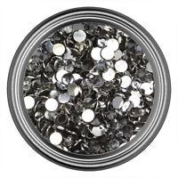 Gray Resin Rhinestone Gem - 2mm 3mm 4mm 5mm 6mm - Flat Back - Nail Art Crystal