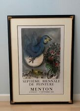 Marc Chagall, The Blue Bird, 1968 Exhibition, Hand Pulled Lithograph