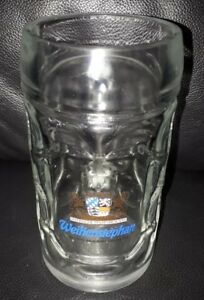 RARE COLLECTABLE WEINHENSTEPHAN 500ML BEER GLASS MUG STEIN GREAT USED CONDITION