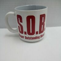 """Russ Berrie & Co Coffee Cup, Mug S.O.B. """"Super Outstanding Boss"""" Bosses Day ."""