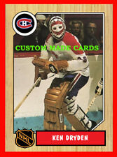 New Release! KEN DRYDEN Retro Style CUSTOM MADE Hockey Card Canadiens Habs MINT