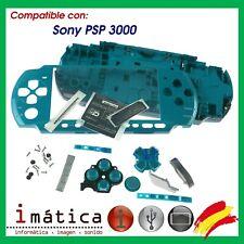 Case Full Psp 3000 3004 Blue Green Water Full Housing Cover Slim Fine