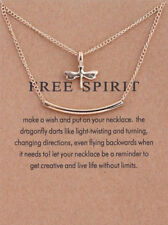 Free Spirit Dragonfly Double Layer  Pendant Necklace YS036