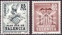 Plan sur de Valencia edifil 1/2 ** MNH Set.