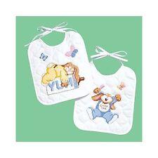 Janlynn Stamped Cross Stitch Kit - Sleepy Bunnies Bibs (2)