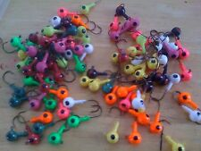 25 Pack of Painted 1/2oz Size Round Head Floating Jigs  Black Nickel Hooks!!!