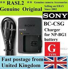 ORIGINALE Caricabatterie Sony BC-CSG NP-BG1 NP-FG1 DSC-HX9V HX7 DSC-WX10 DSC-W300 DSC-H70