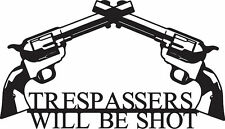 Black Metal No Trespassing or you will be shot sign  Decor Home Cabin Rustic
