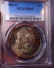 Morgan Silver Dollar 1884 O PCGS MS 64++++ Under Grade Monster Toner! WOW COIN