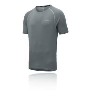 Higher State Mens Short Sleeve Running T Shirt Tee Top 2.0 - Grey Sports