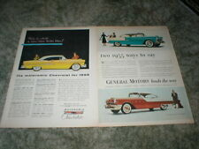 1955 Chevrolet Bel Air Car ads: Lot  of 2,   2 door hardtop  V8, 6, Powerglide
