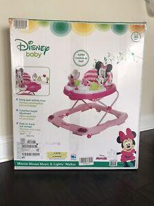 Disney Baby Minnie Mouse Music & Light Walker, Glitter Minnie