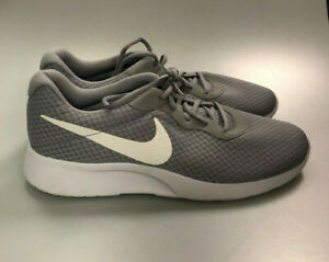 Nike Mens Tanjun 812654-010 Running Sneaker Wolf Grey White Shoes Size US 11.5