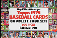 1975 Topps Baseball Cards # 1 - 249 | EX-NM! | Complete Your Set | You Pick!