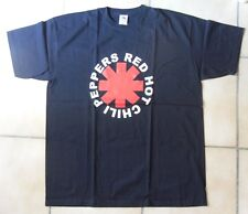 RED HOT CHILI PEPPERS T-SHIRT NOIR COL ROND MANCHES COURTES 100% COTON TAILLE XL