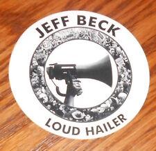 """Jeff Beck Loud Hailer Sticker Decal Circle Promo 3"""""""