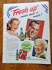 1943 7up Soda Bottle Pop Ad Fresh Up Here's What it Takes