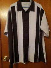 Men's Monte Carlo SS shirt Casual Black grey button front Size 2 XL XXL EUC